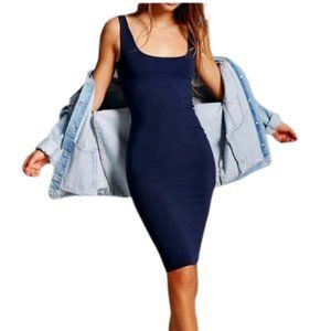 Brandy Melville Navy Blue Tank Dress One Size